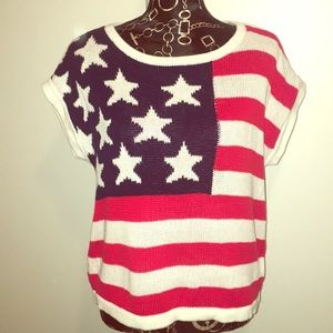 American Flag Knit Top